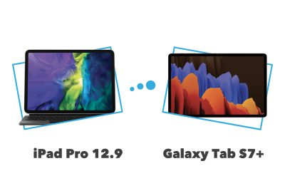 Comparatif et différences iPad Pro 12,9 pouces vs Galaxy Tab S7+