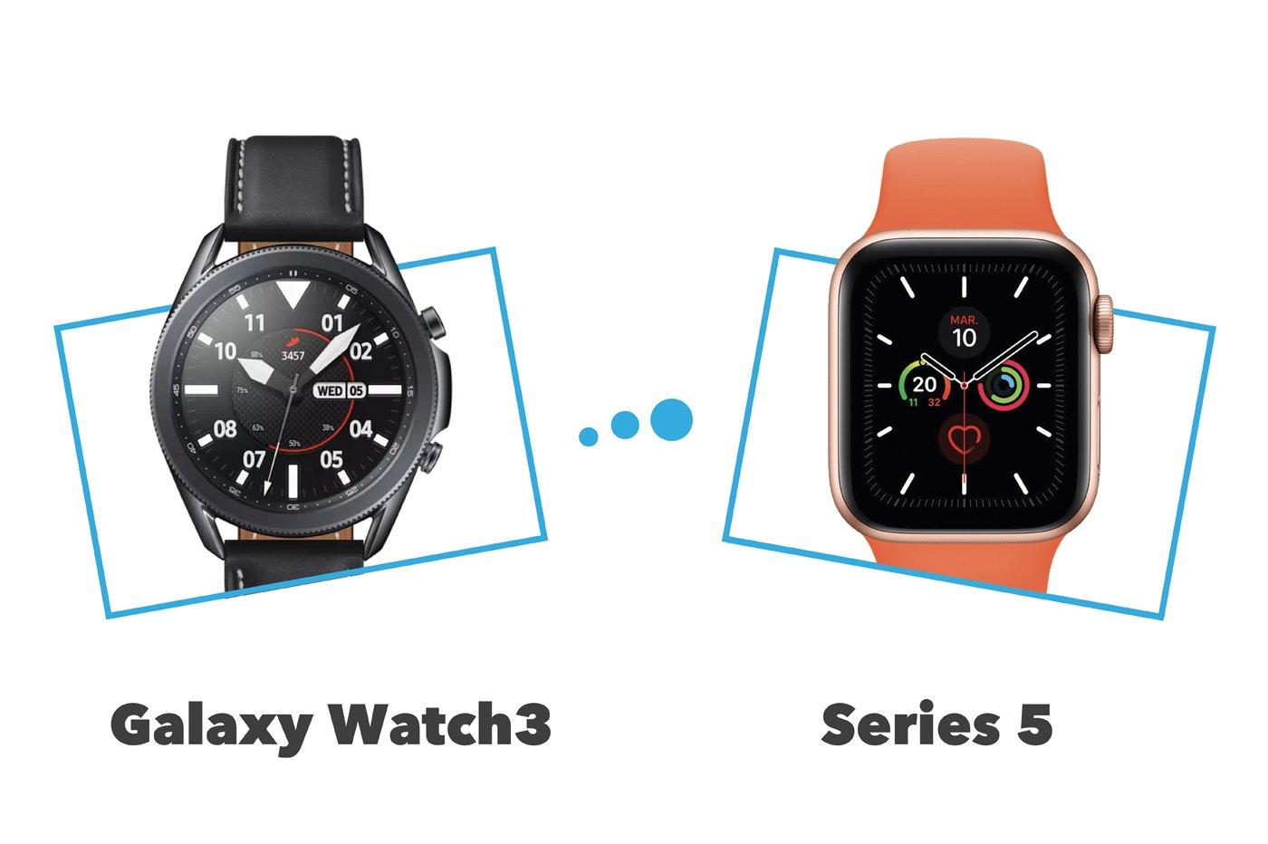 Apple Watch Series 5 vs Samsung Galaxy Watch3 : comparatif et différences