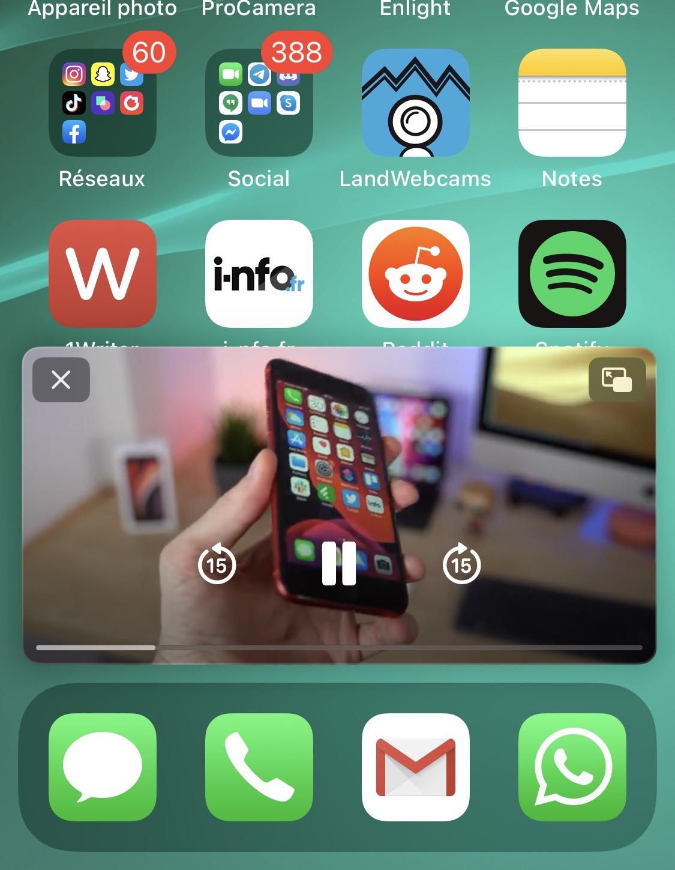Mode PiP dans iOS 14
