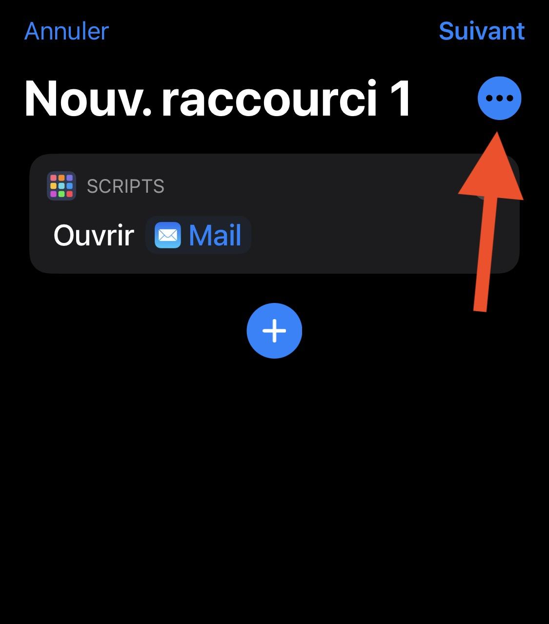Raccourcis et icône d'app