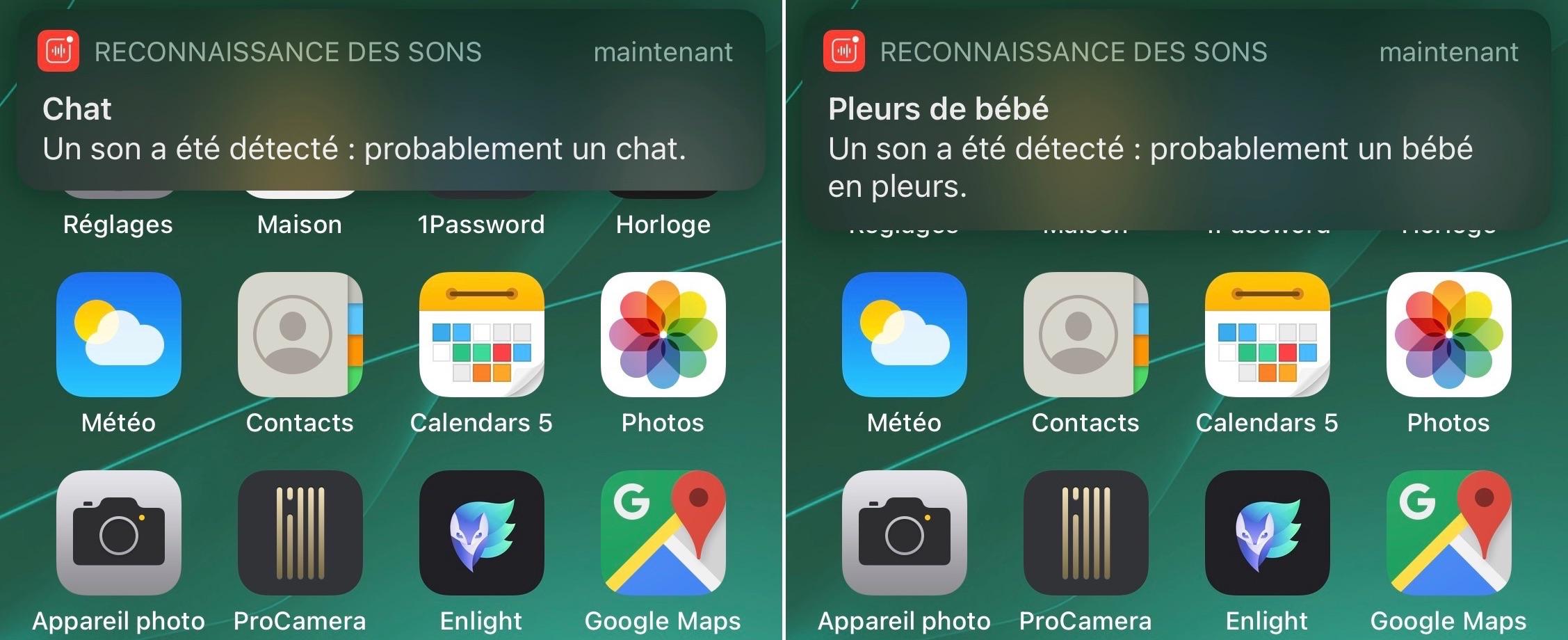 Fonction reconnaissance des sons iOS 14