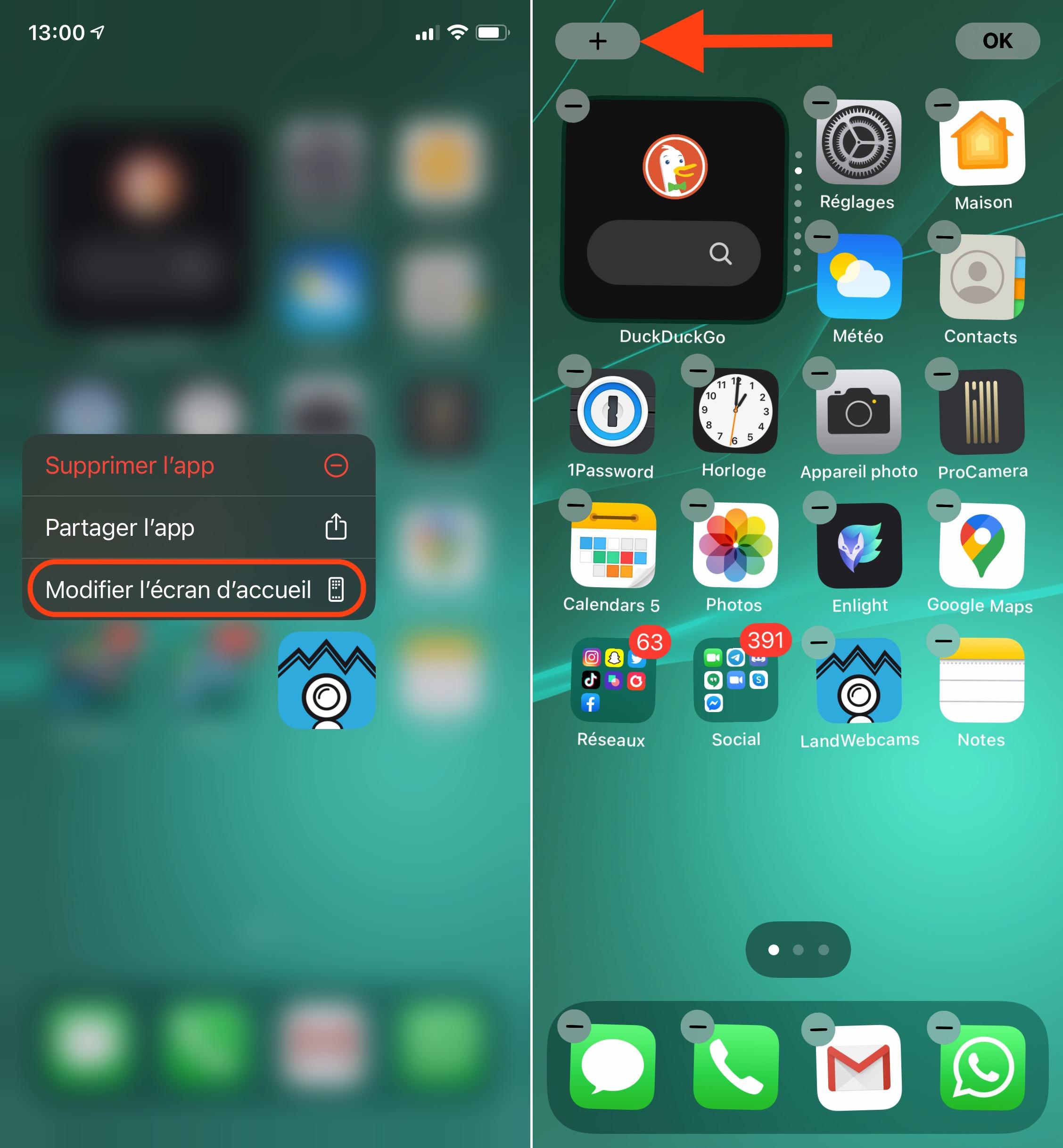 Modifier un widget