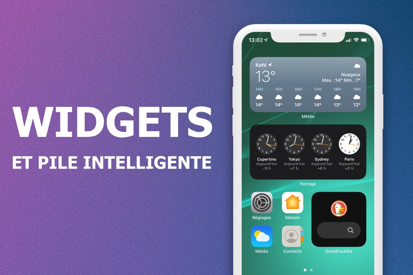 Les nouveaux widgets iOS