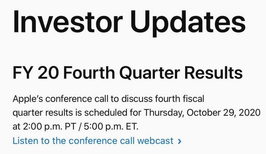 Bilan financier Apple 3e trimestre