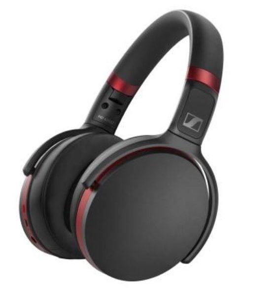 casque circum-aural Sennheiser hd 458bt avec Bluetooth noir et rouge