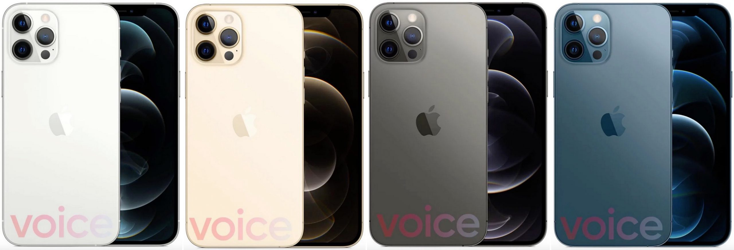 Coloris iPhone 12