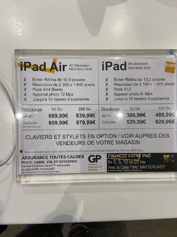 FNAC iPad 2020