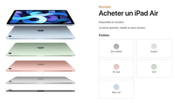 iPad Air 4 fiche produit