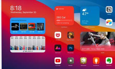 iPad iOS 14 widgets écran d'accueil