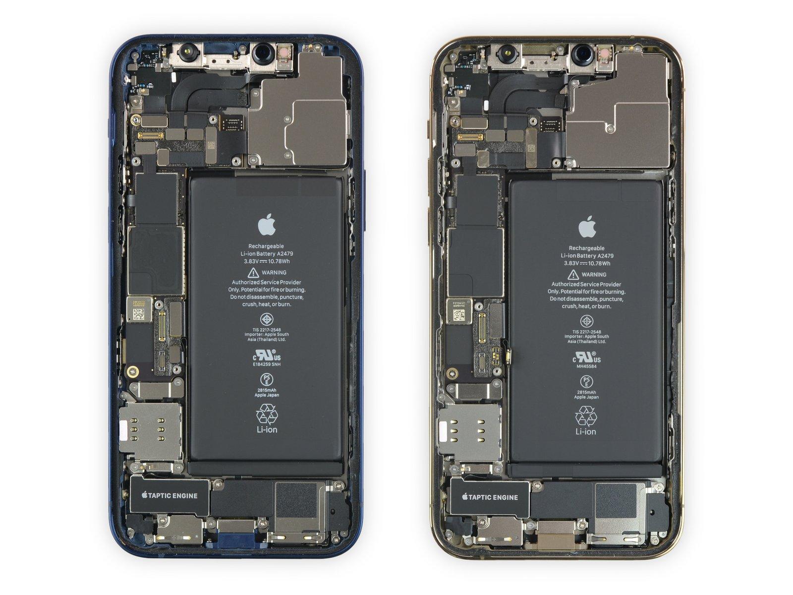 iPhone 12 vs 12 Pro intérieur