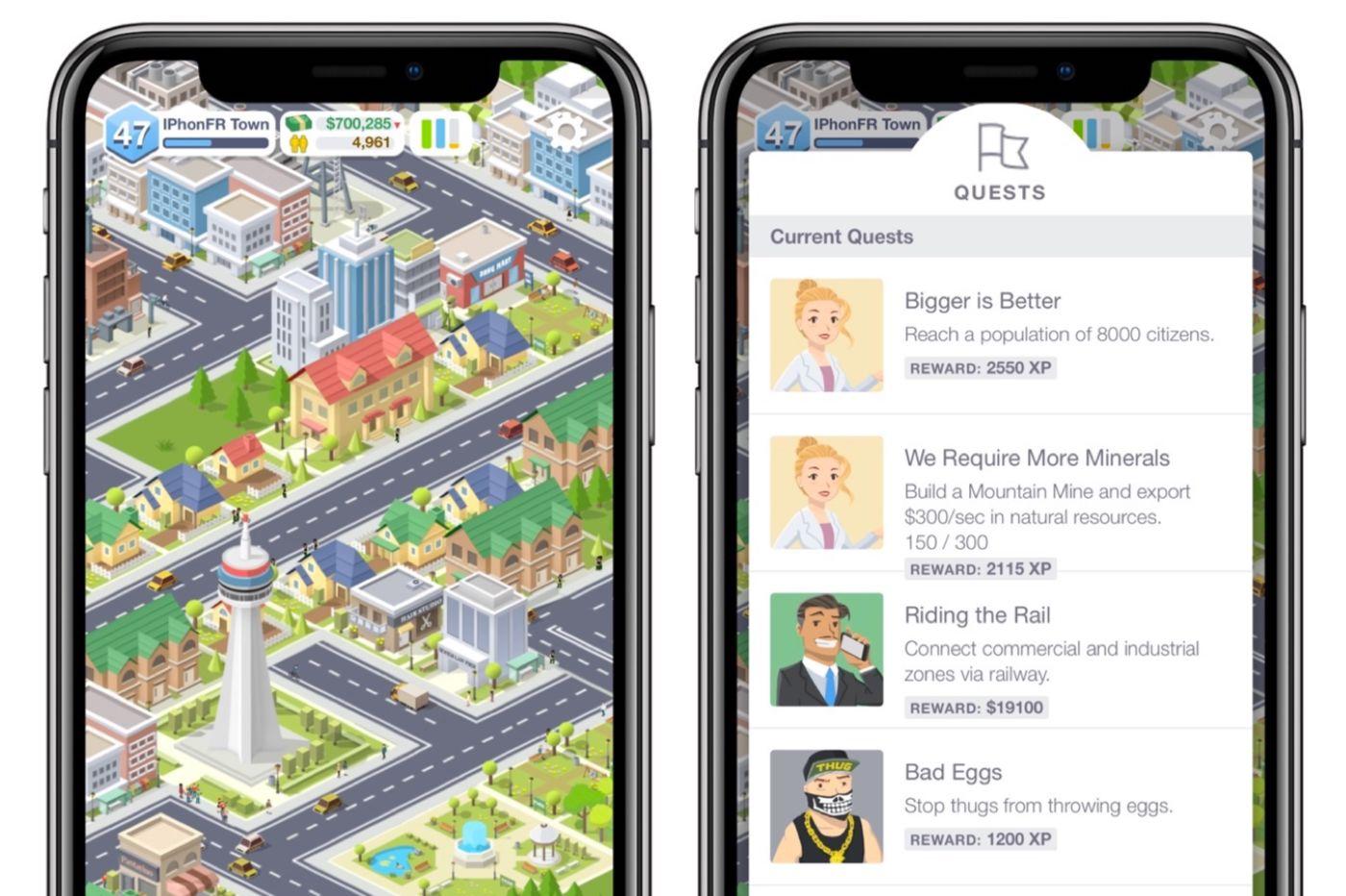Jeu iPhone Pocket City