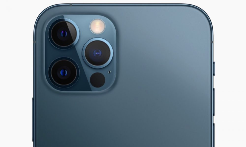 iPhone 12 Pro Bleu Pacifique arrière