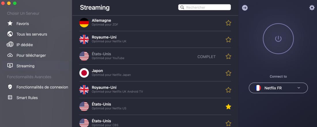 Serveurs streaming-CyberGhost VPN