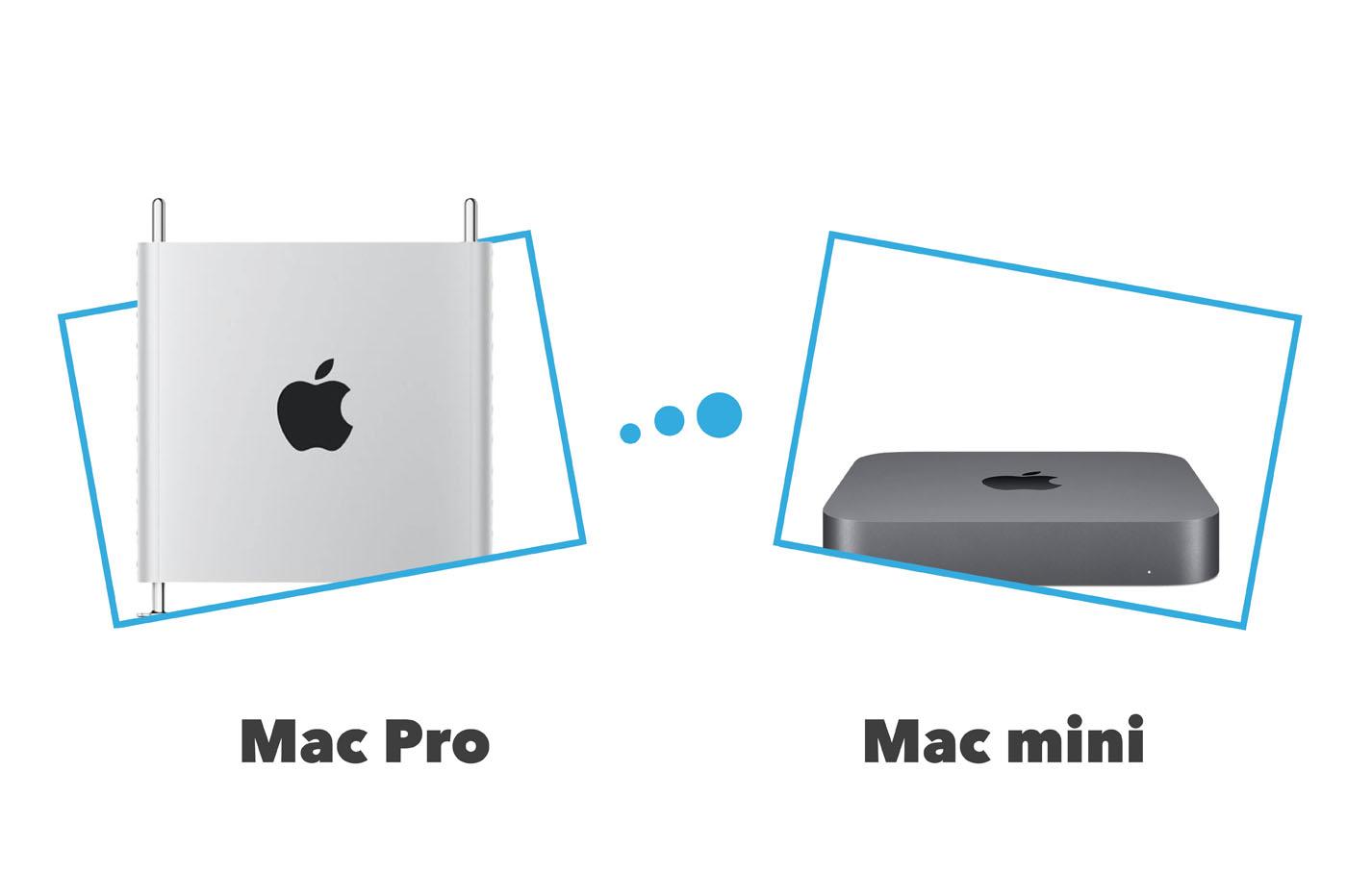 Comparatif Mac Pro vs Mac mini