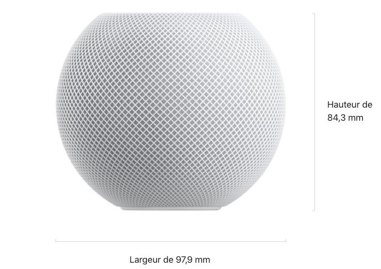 Dimensions Apple HomePod mini