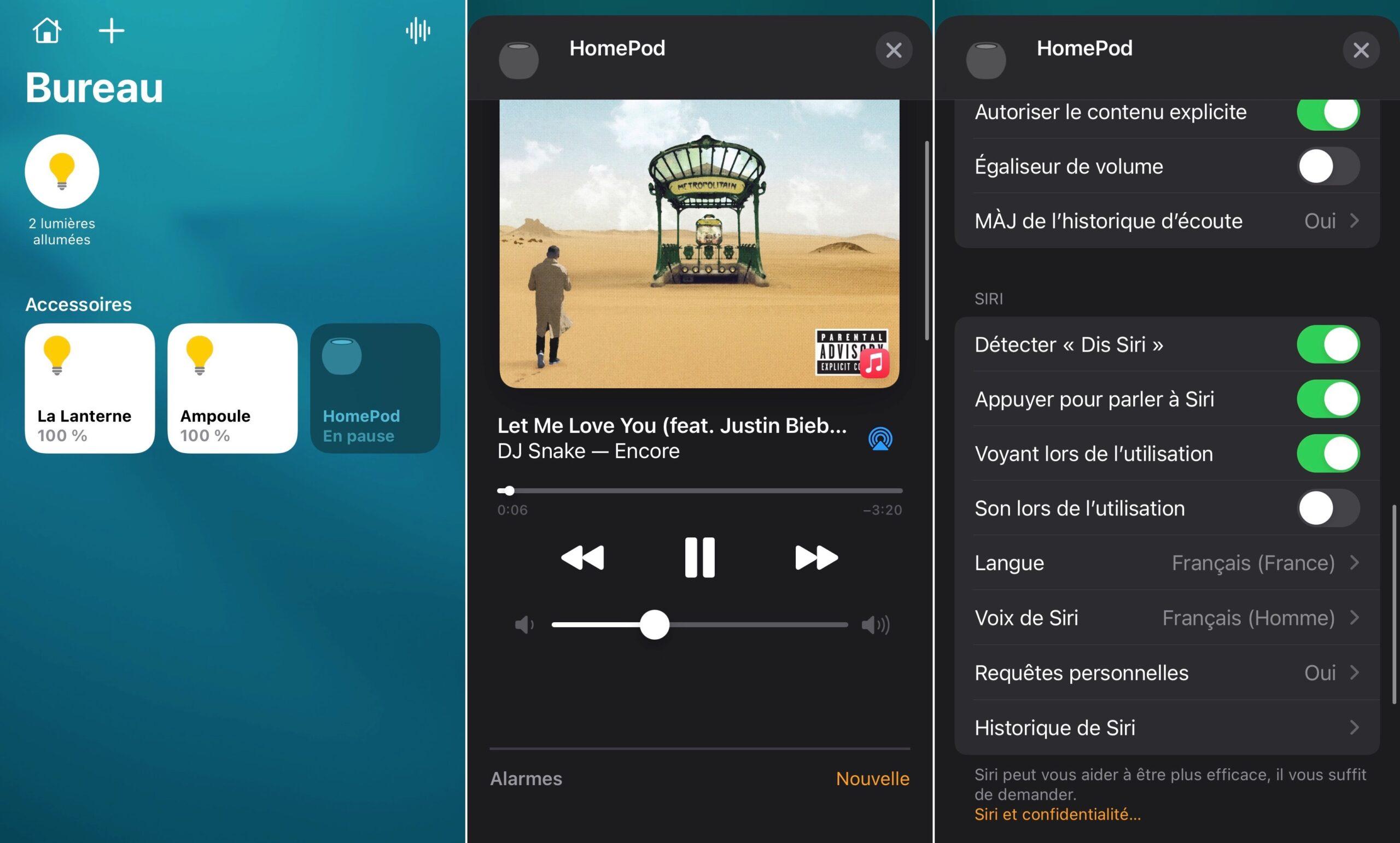 HomePod mini Maison sur iOS