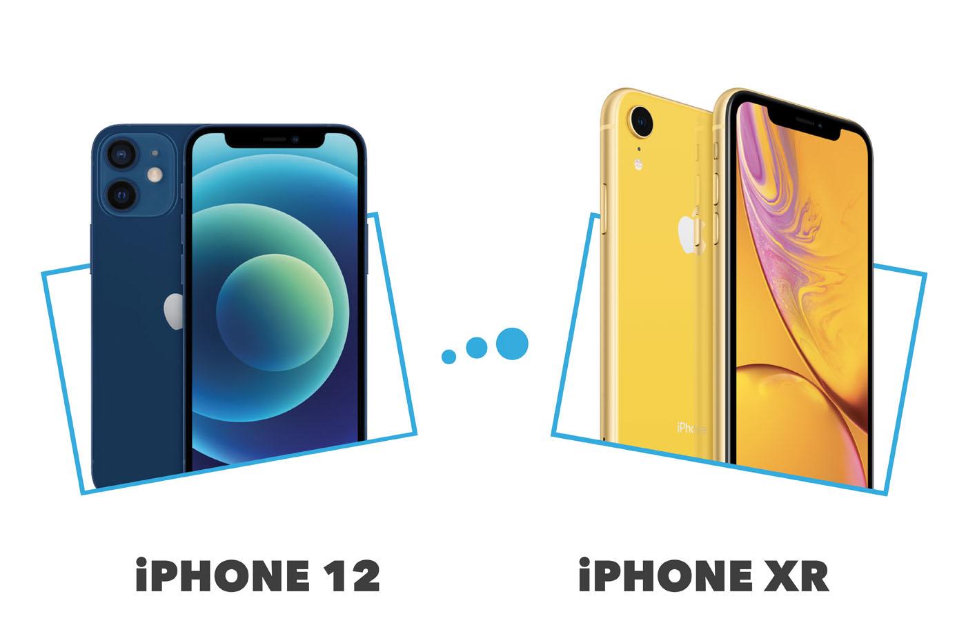 Comparatif iPhone 12 vs iPhone XR