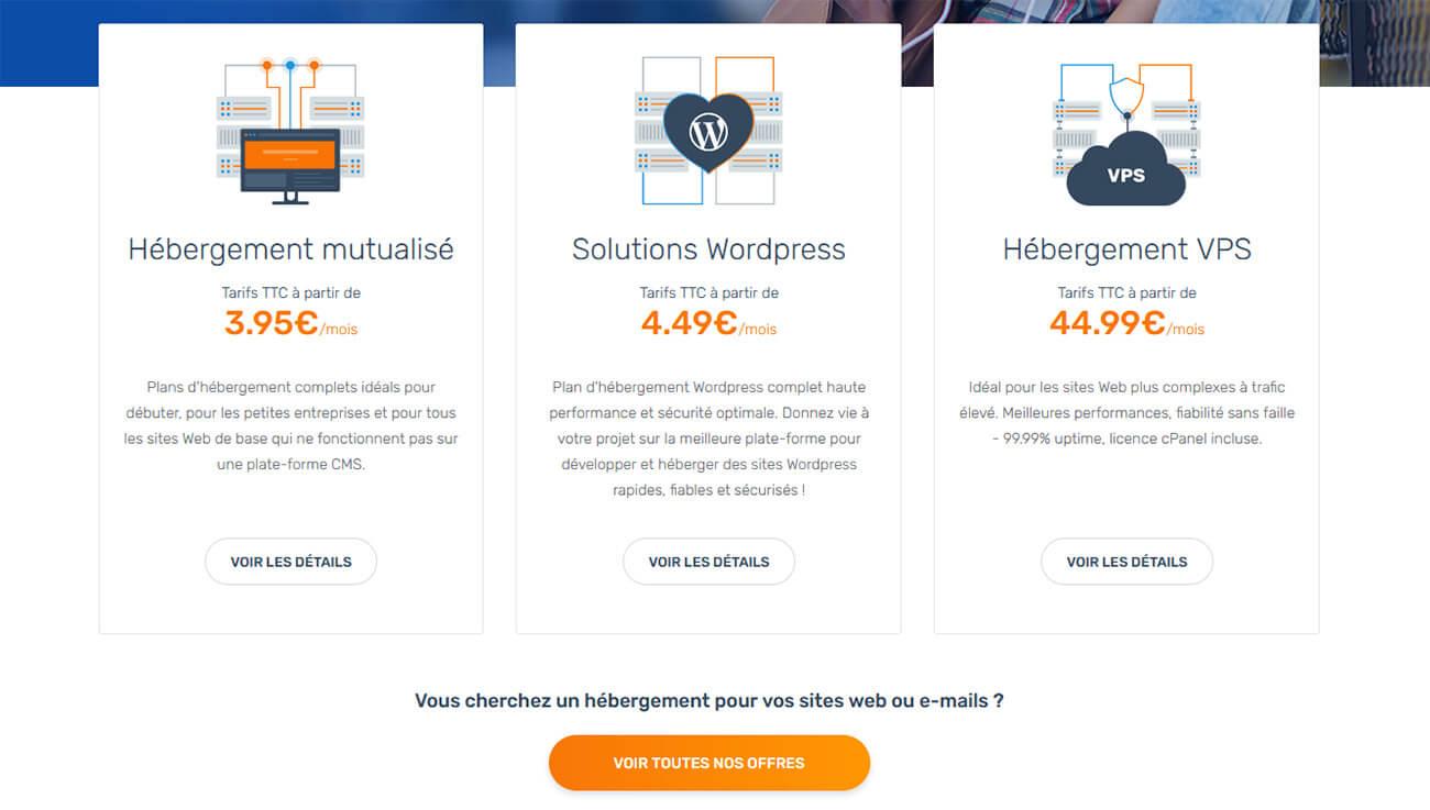 Hébergements web Ex2