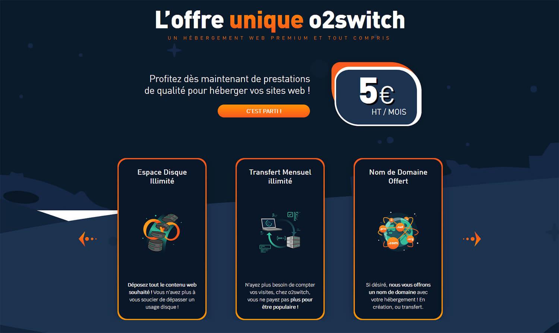 Offre hébergement web o2switch