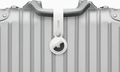 Capteur AirTag Apple sur valise