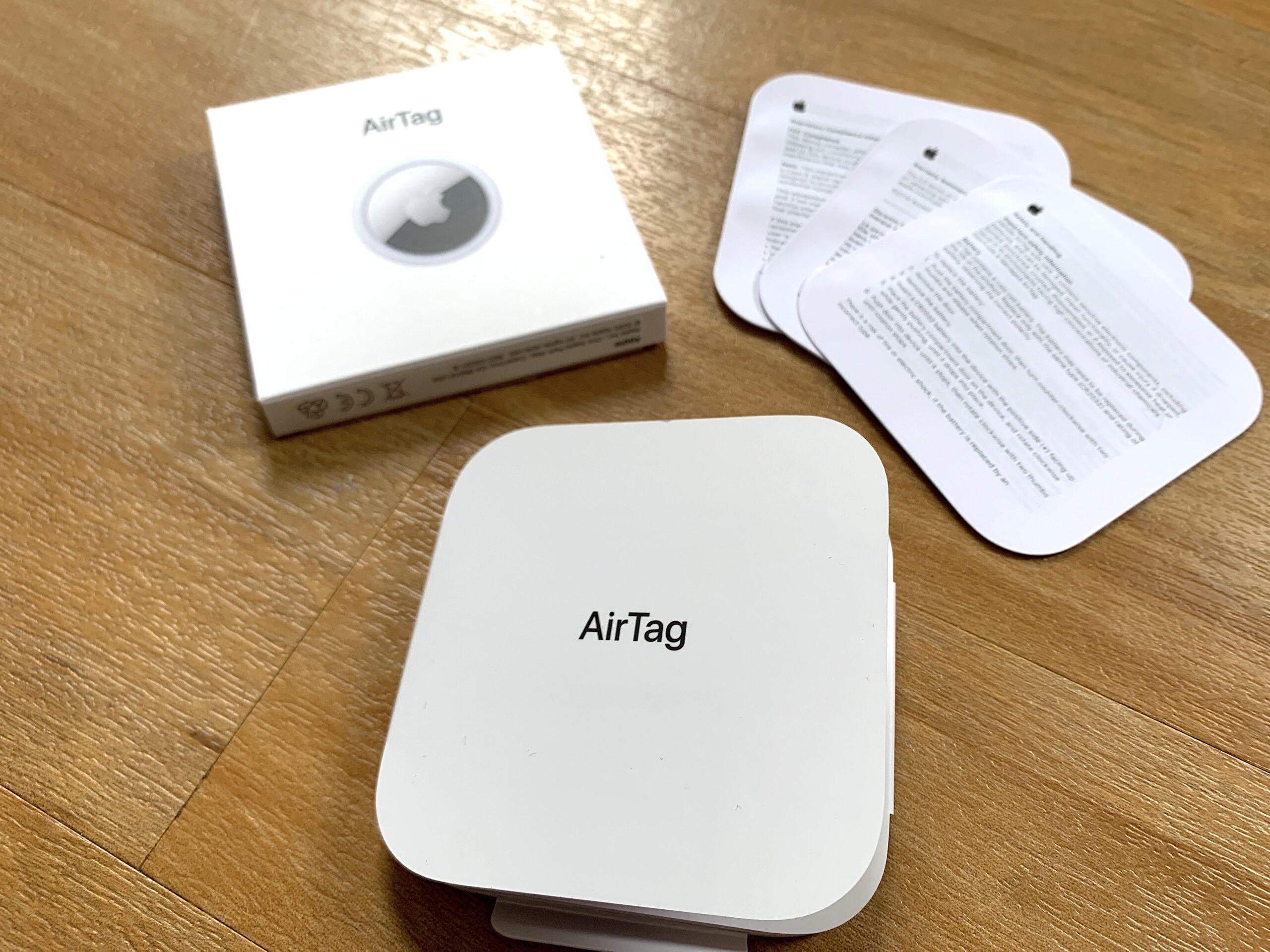 Apple AirTag boxes
