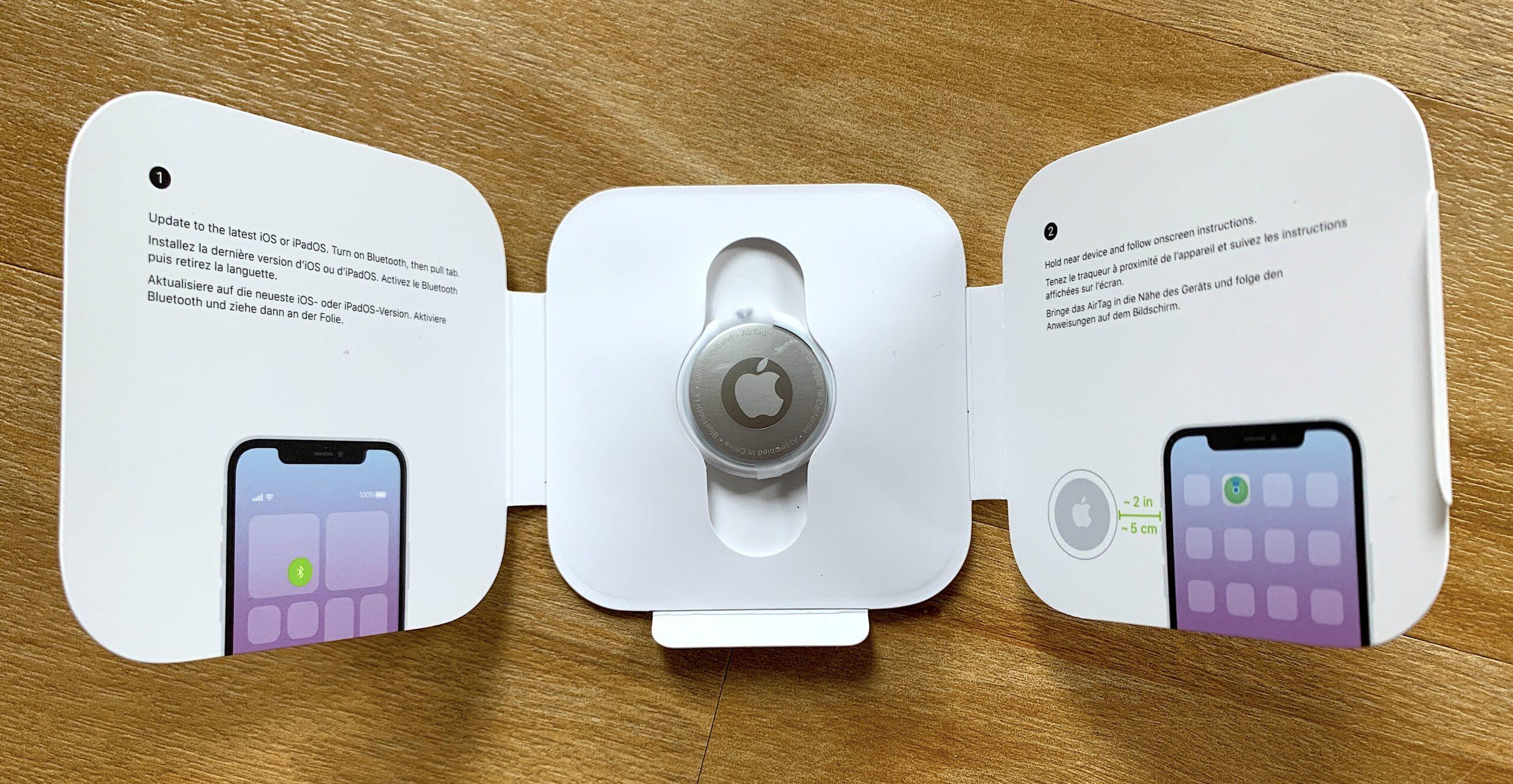 Apple AirTag open box