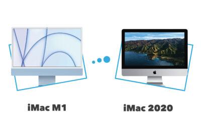 différences iMac M1 vs iMac 2020