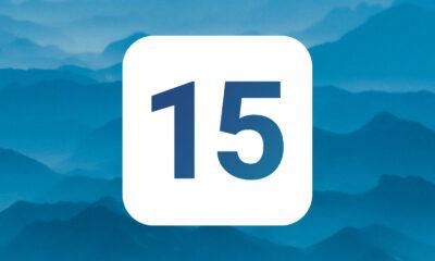 iOS 15 bleu
