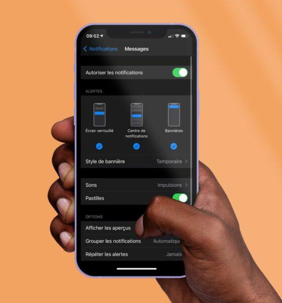 Réglages iMessage iOS