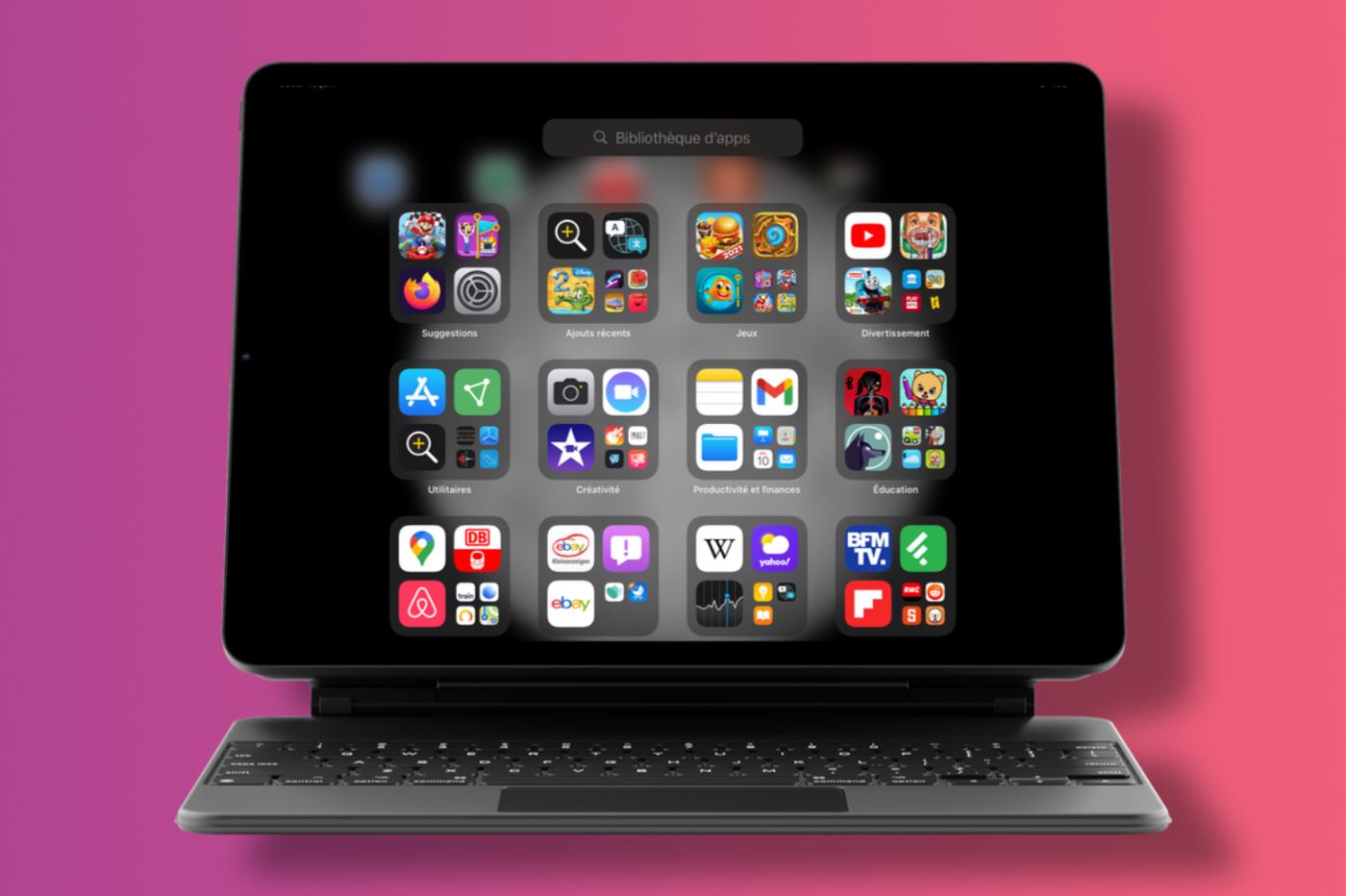 Bibliothèque d'apps sur iPad