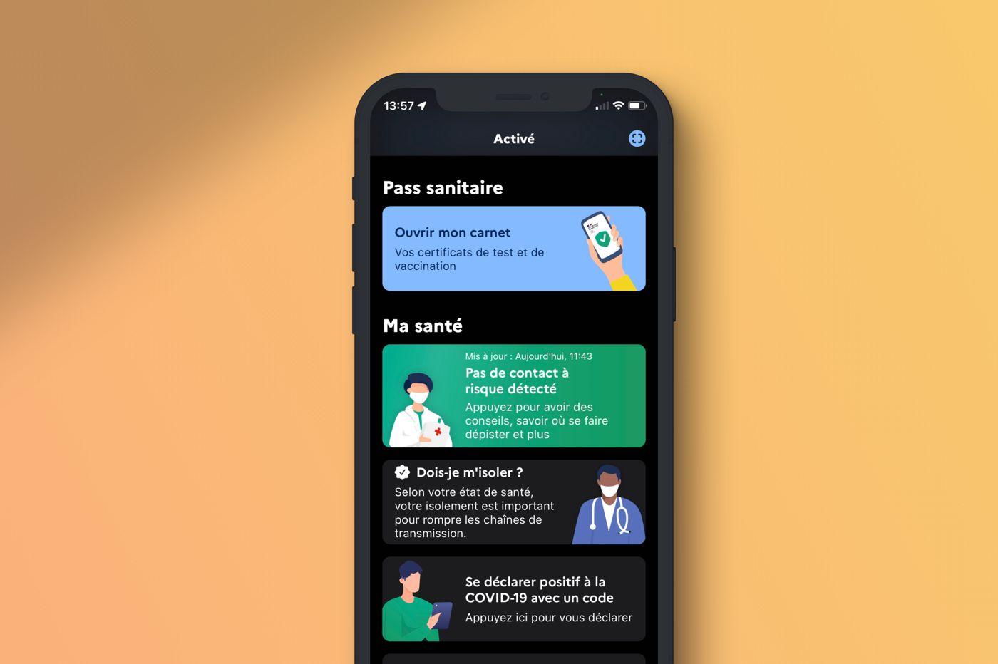Pass sanitaire app TousAntiCovid