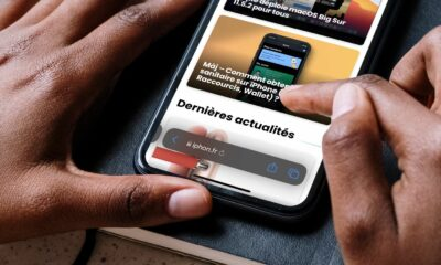 Barre flottante iOS 15 Safari bêta 5