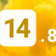 iOS 14.8 fond jaune