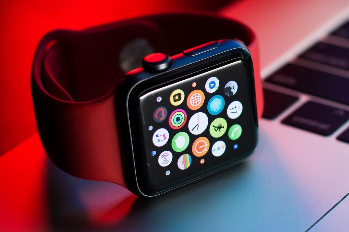 Apple Watch et nuage d'apps