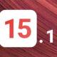 iOS 15.1 fond rouge