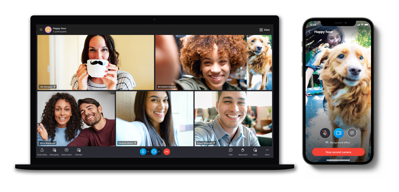 Skype nouveau design iOS Mac