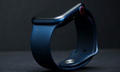 Apple Watch bracelet bleu