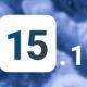 iOS 15.1 fond bleu