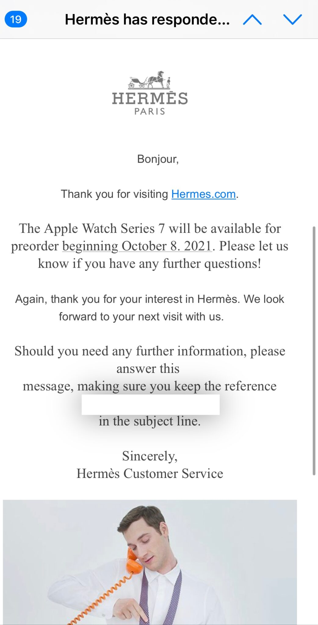 Mel Herms Apple Watch Series 7.  launched