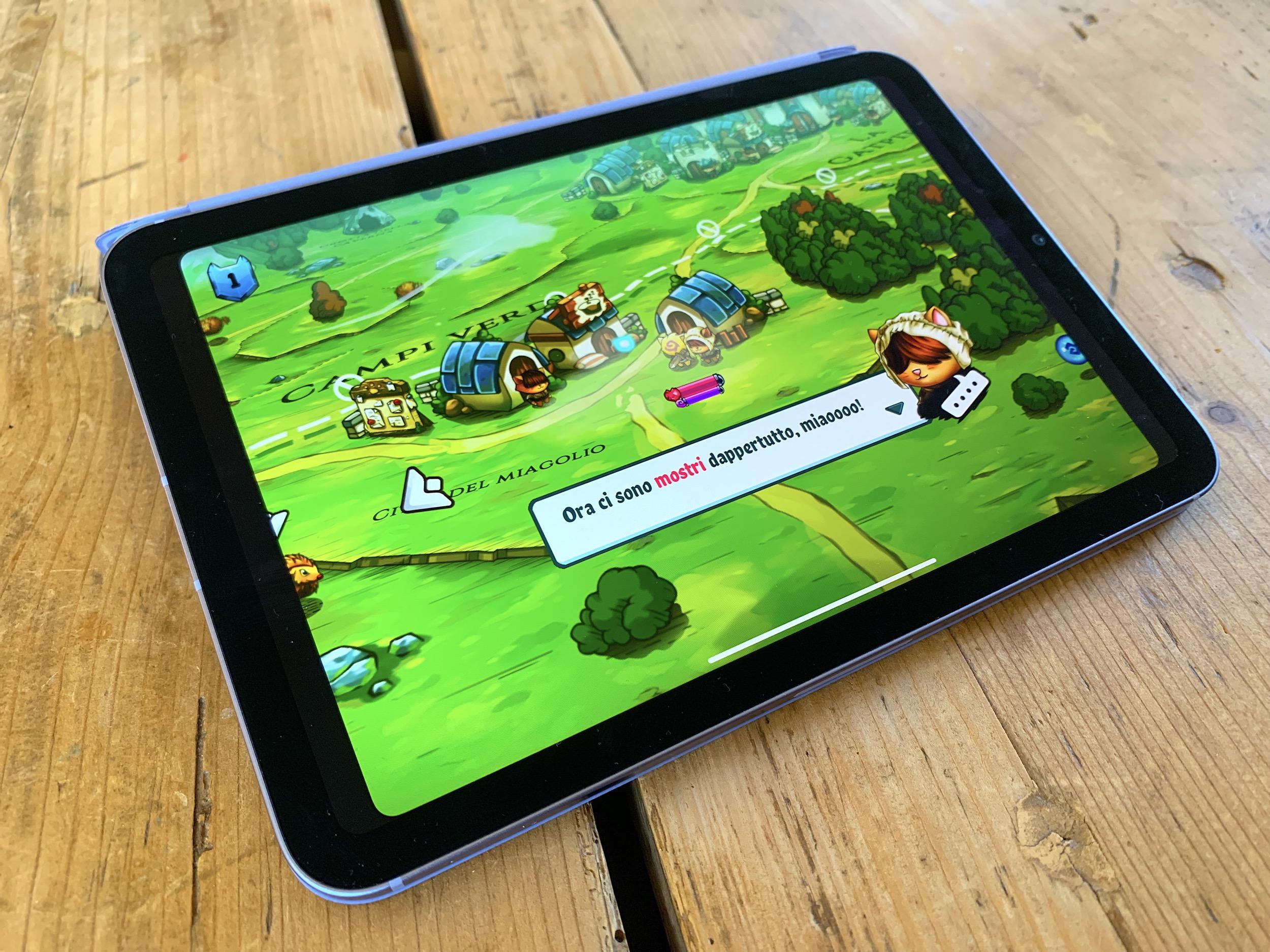 iPad mini 6 jeu vidéo en italien