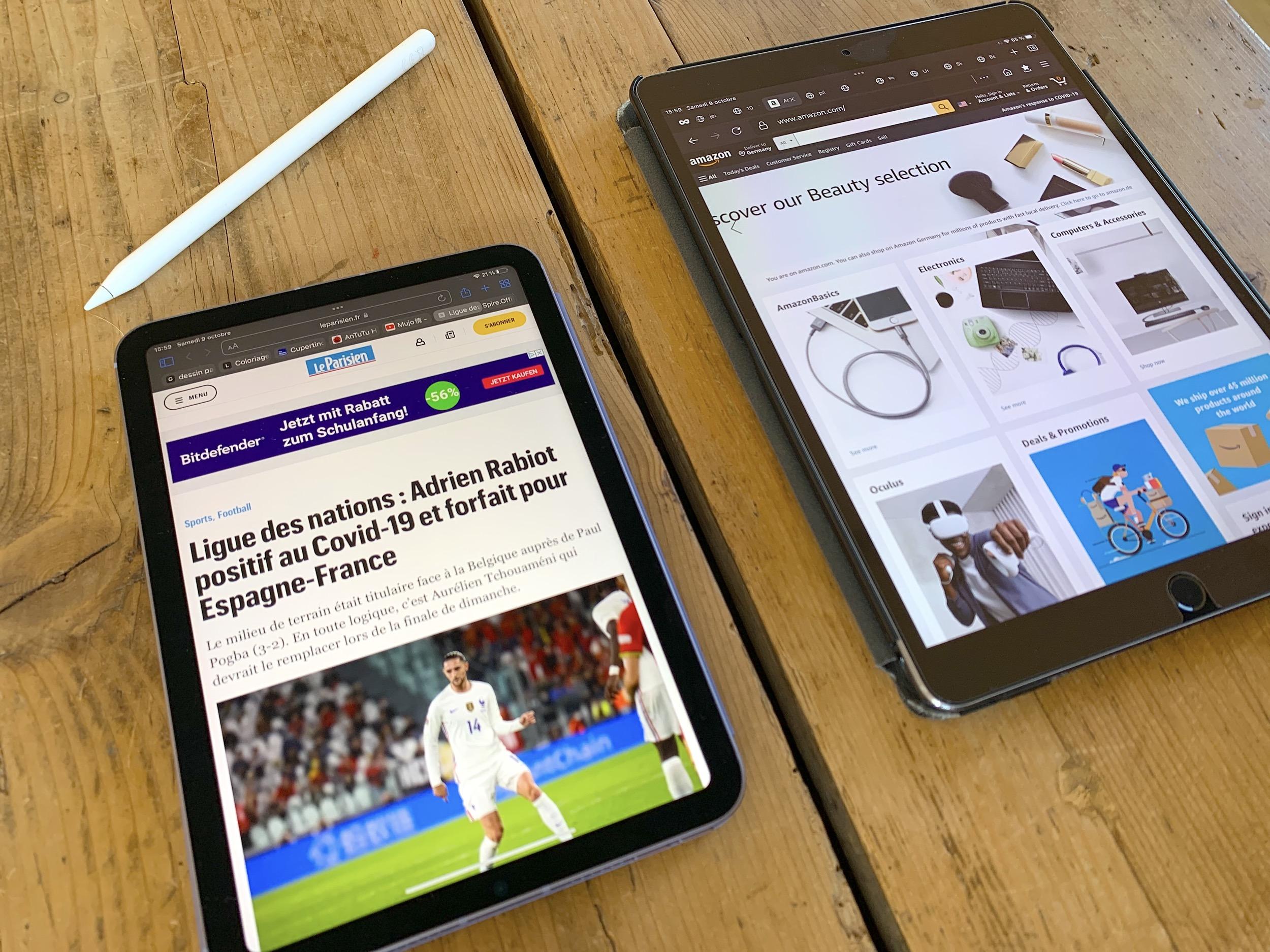 """iPad mini 6 vs iPad Pro 10,5"""" avec Pencil"""
