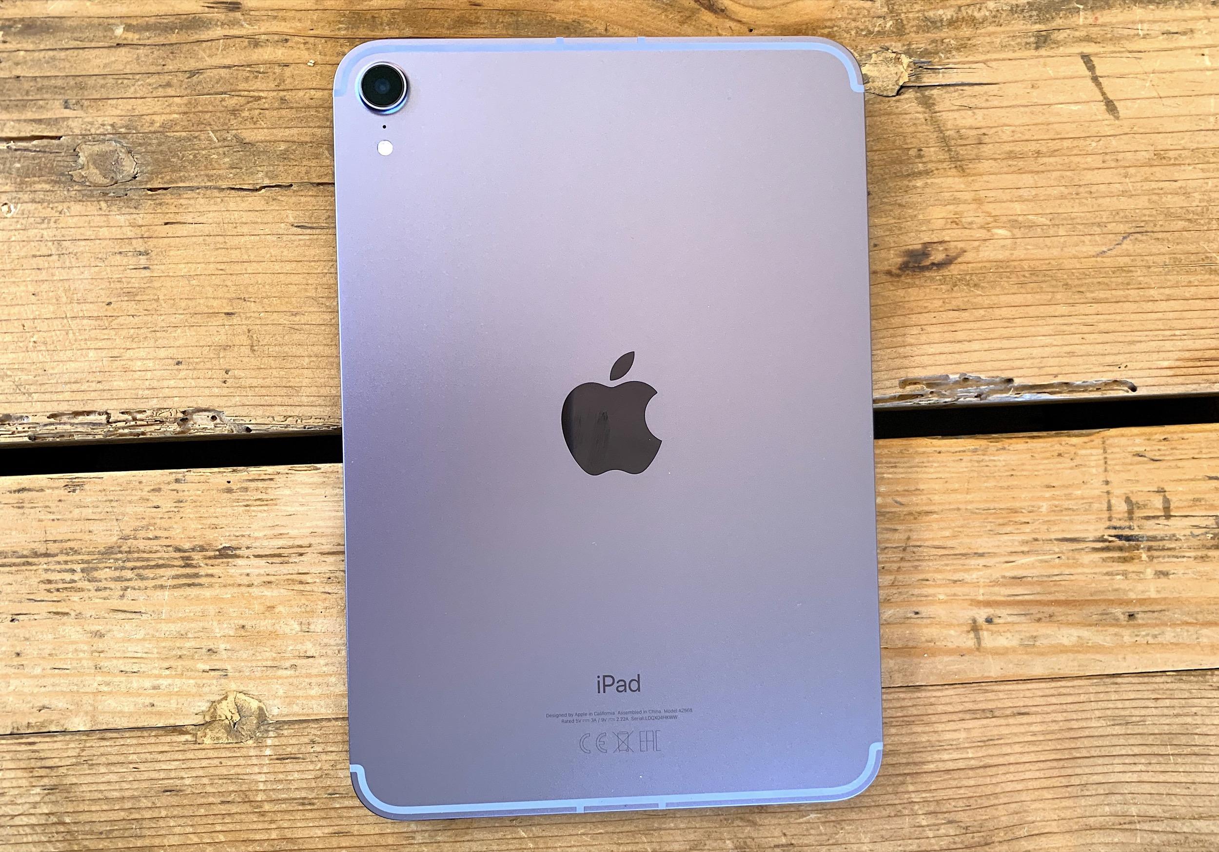 iPad mini 6 vue dos