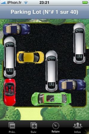 Jeu iphone ipod touch parking lot for Garage recuperer voiture