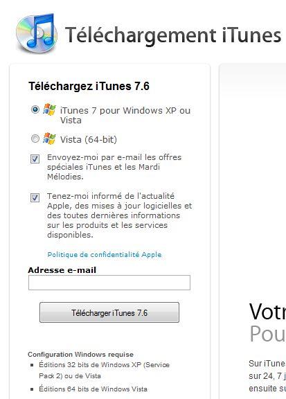 iTunes est désormais compatible avec Windows Vista 64 bits