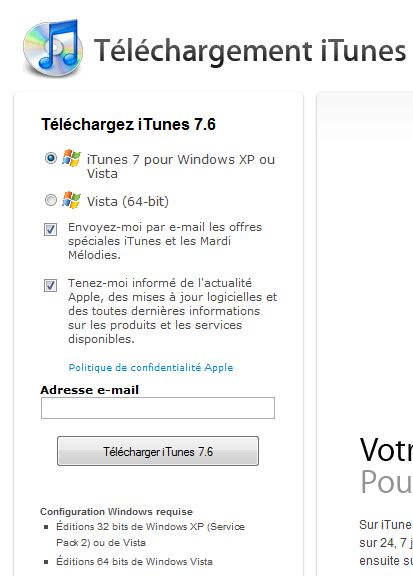 telecharger itunes windows 10 32 bits