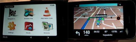 navigation gps routi re sur l 39 iphone d monstration par sygic. Black Bedroom Furniture Sets. Home Design Ideas