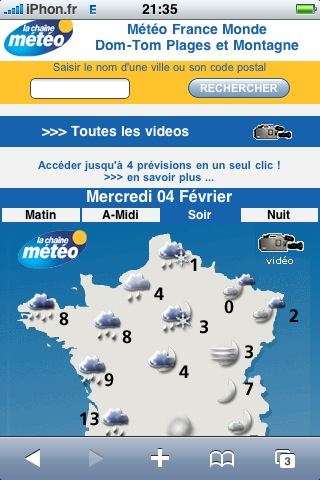 La chaine météo disponible en version iPhone / iPod Touch - iPhone ...