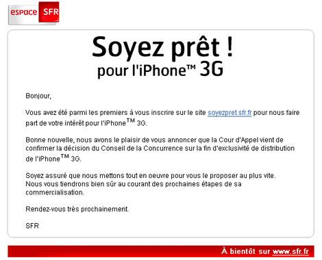 iPhone toujours indisponible chez SFR et Bouygues Telecom