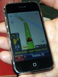 la navigation gps sur l 39 iphone montr e au ces. Black Bedroom Furniture Sets. Home Design Ideas