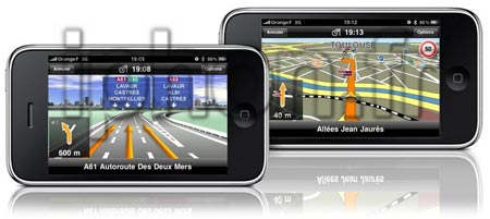 Comparatif vitesse iPhone 3GS / iPhone 3G sur Navigon 1